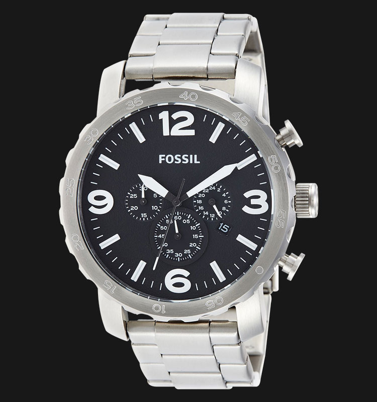 Fossil JR1353 Nate Chronograph Stainless Steel Machtwatch