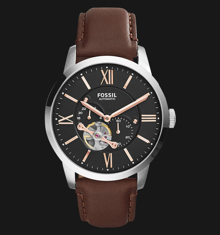 Fossil ME3061 Townsman Automatic Brown Leather Strap Machtwatch