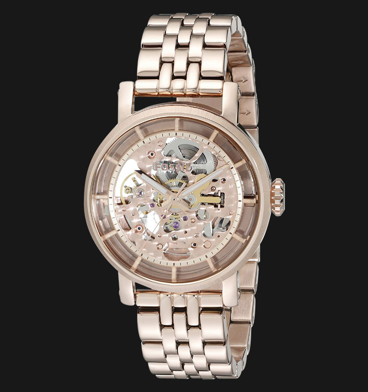 Fossil ME3065 Original Boyfriend Automatic Rose Tone Stainless Steel Machtwatch