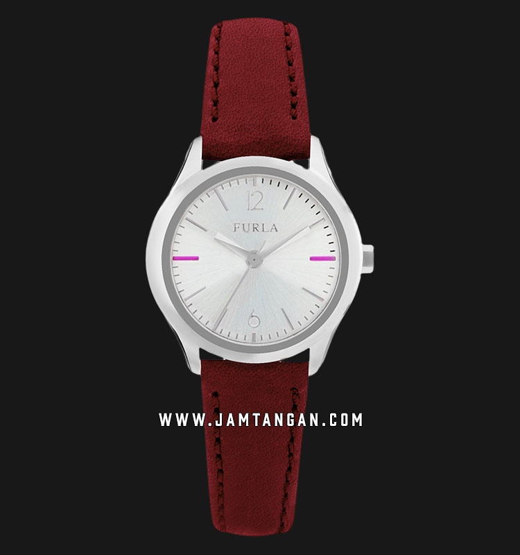Furla Eva R4251101507 Ladies Silver Dial Red Leather Strap Machtwatch