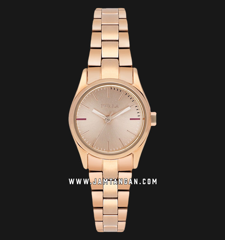 Furla Eva R4253101505 Ladies Rose Gold Dial Rose Gold Stainless Steel Strap Machtwatch