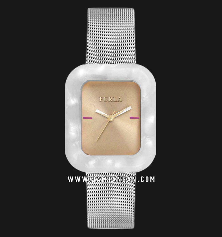 Furla Elisir R4253111502 Ladies Champagne Dial Stainless Steel Strap Machtwatch