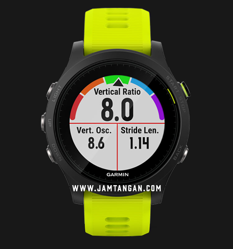Garmin 010-01746-17 Forerunner 935 Digital Dial Yellow Rubber Strap Machtwatch