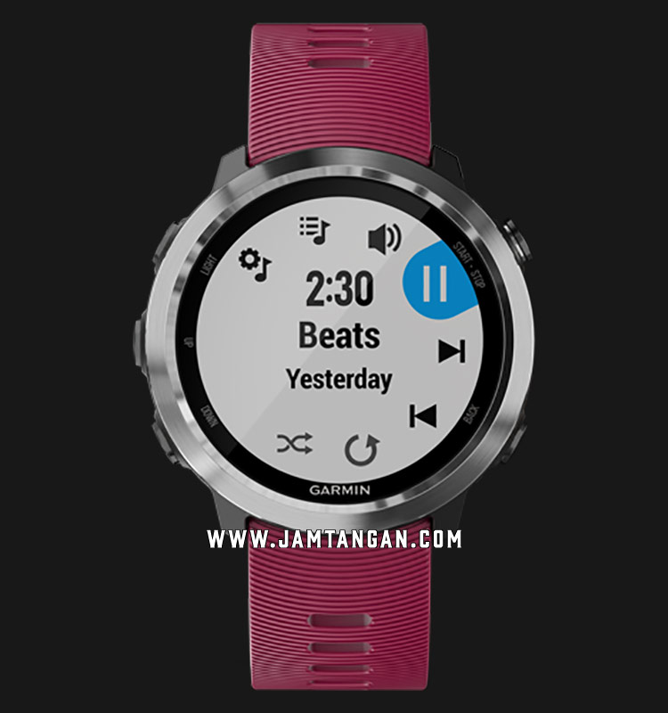 Garmin 010-01863-F1 Forerunner 645 Music Digital Dial Red Rubber Strap Machtwatch