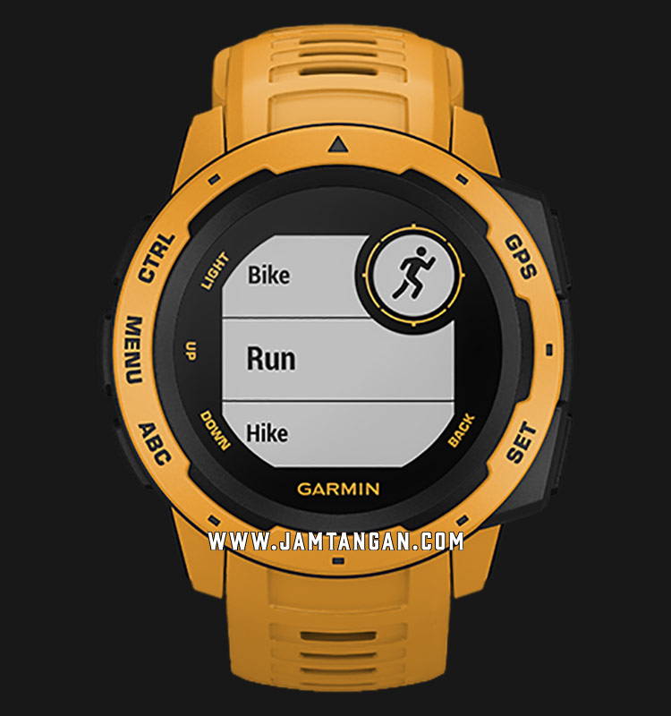 Garmin 010-02064-44 Instinct Sunburst Digital Dial Yellow Rubber Strap Machtwatch