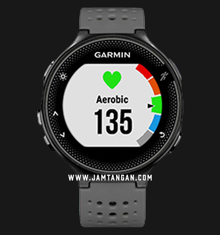 Garmin 010-03717-7E Forerunner 235 Digital Dial Grey Rubber Strap Machtwatch