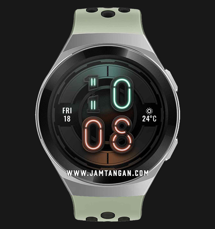 Huawei Hector GT2E-Hector-B19C Active Men Digital Dial Mint Green Rubber Strap Machtwatch