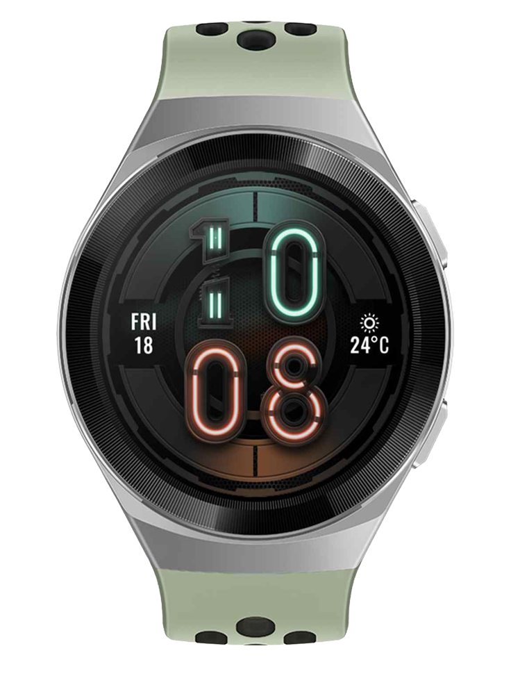 Huawei Hector GT2E-Hector-B19C Active Men Digital Dial Mint Green Rubber Strap