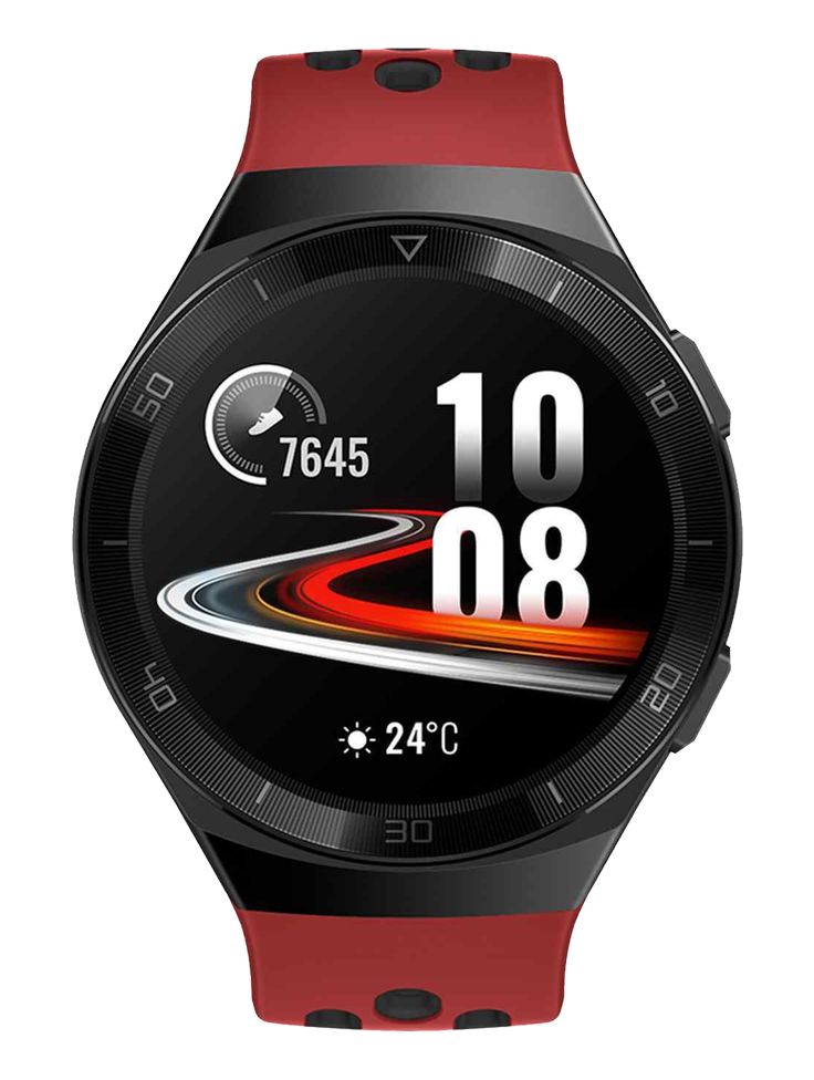 Huawei Hector GT2E-Hector-B19R Sport Men Digital Dial Lava Red Rubber Strap