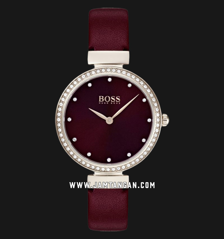 Hugo Boss 1502481 Ladies Red Dial Red Leather Strap Machtwatch