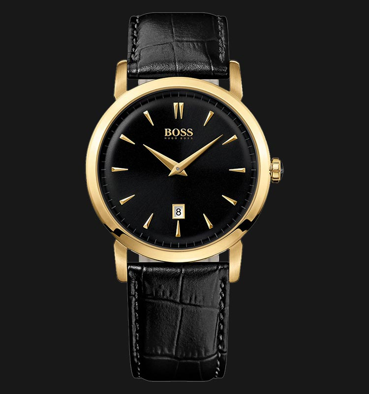 Hugo Boss 1512909 Black Leather Strap Machtwatch