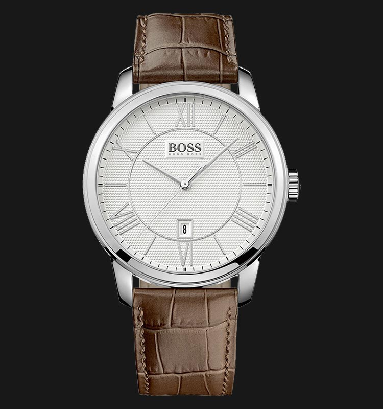 Hugo Boss 1512973 Brown Leather Strap Machtwatch