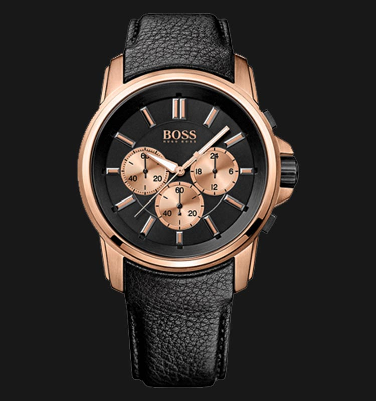 Hugo Boss 1513032 Chronograph Black Leather Machtwatch