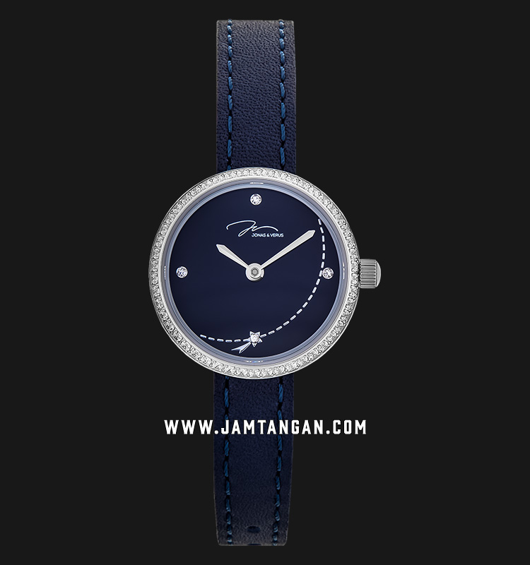 Jonas Verus L25.11.WLLLD Minimalist Collection Ladies Blue Dial Blue Leather Strap Machtwatch
