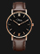 Jonas Verus X01646-Q3.PPBLZ Minimalist Collection Ladies Black Dial Brown Leather Strap Thumbnail