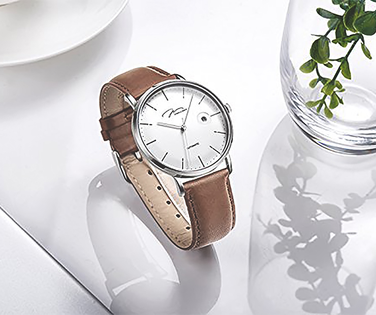 Jonas Verus Strap Y01545-A0.WWWLZ Man Japan Automatic Mechanical Brown Leather Machtwatch