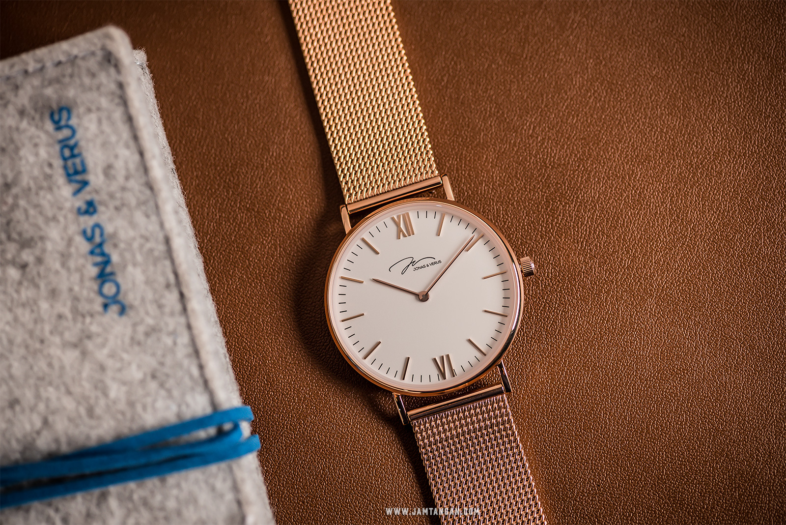 Jonas Verus Y01646-Q3.PPWBP Minimalist Collection Men White Dial Rose Gold Stainless Steel Strap Machtwatch