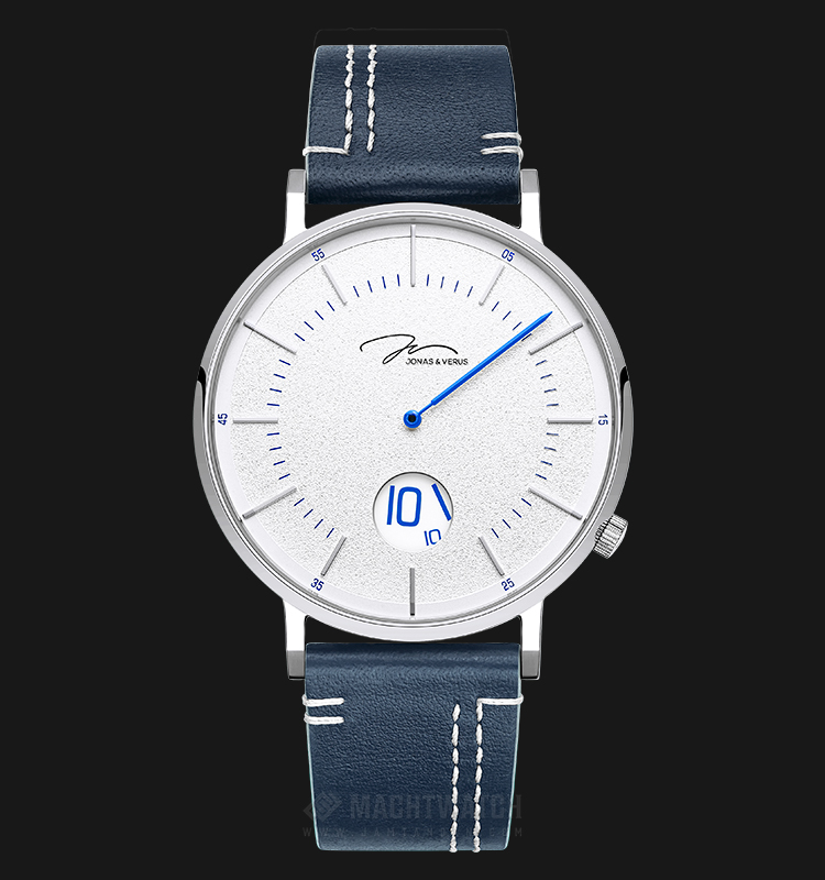 Jonas Verus Y02065-Q3.WWWLL Chivalry Collection Men White Dial Blue Leather Strap Machtwatch