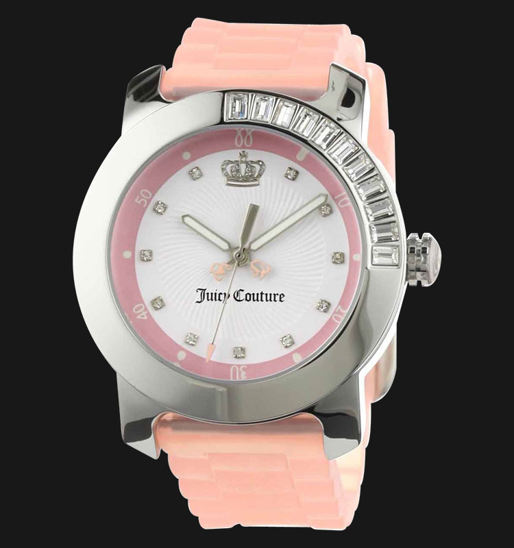 Juicy Couture 1900734 BFF Pink Jelly Strap Ladies Swarovski Crystal Machtwatch