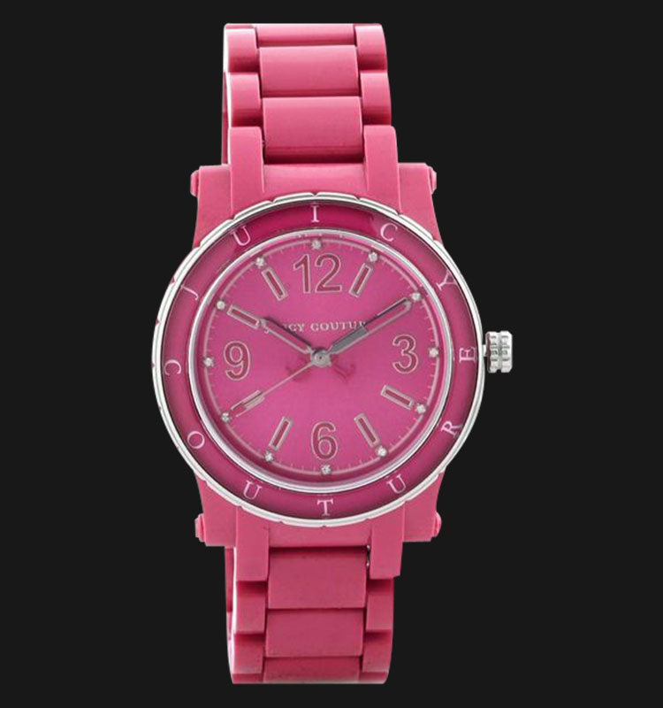 Juicy Couture 1900804 Hot Pink Acrylic Dial Plastic Band Ladies Machtwatch