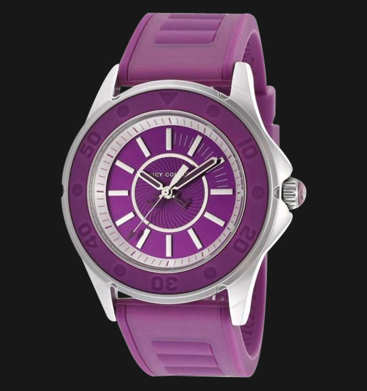 Juicy Couture 1900873 Rich Girl Purple Jelly Strap Watch Machtwatch