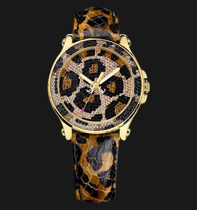 Juicy Couture 1901070 Pedigree Leopard Leather Machtwatch