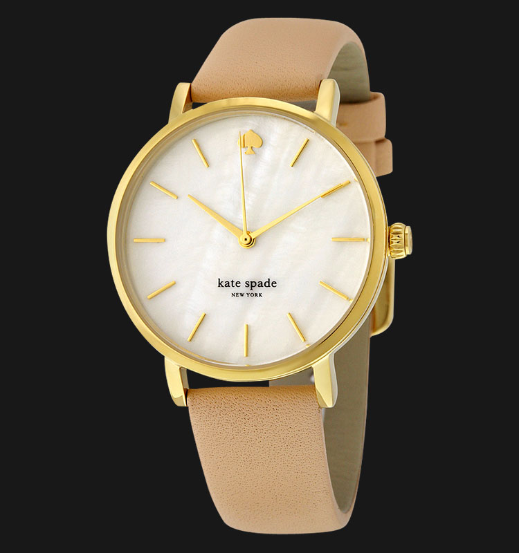 Kate Spade 1YRU0073 Classic White Dial Genuine Leather Band Machtwatch