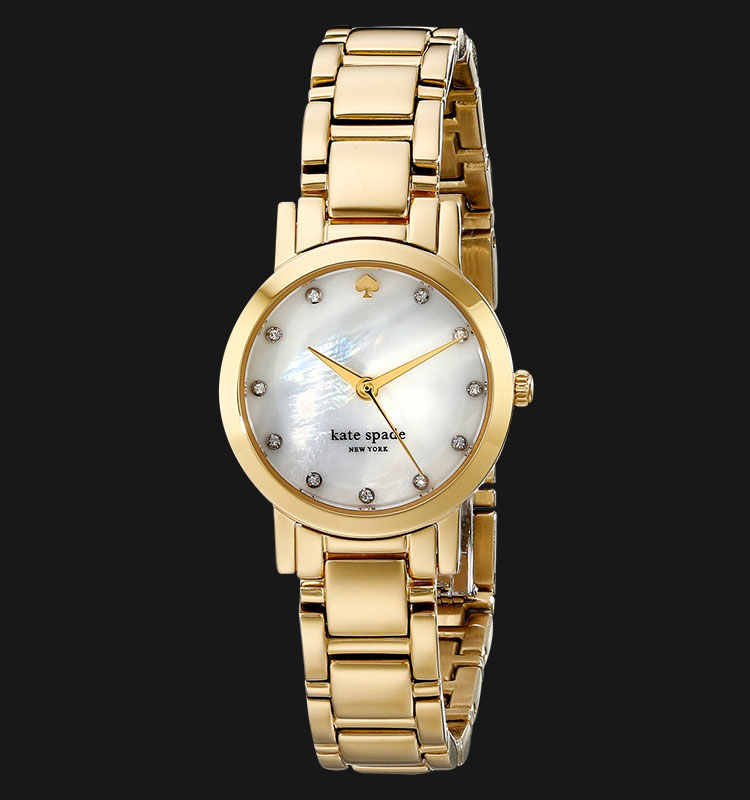 Kate Spade 1YRU0145 Gramercy Mini Mother of Pearl Dial Gold Stainless Steel Machtwatch