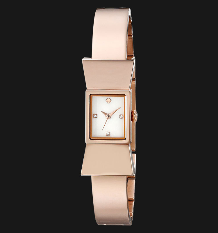 Kate Spade 1YRU0183 Carlyle Rose Gold Tone Bow Shape Bangle Women Watch Machtwatch