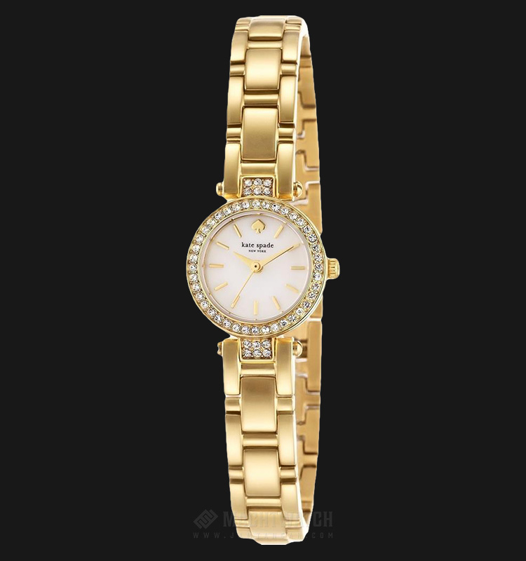 Kate Spade 1YRU0723 Tiny Gramercy Mother of Pearl Dial Gold-tone Stainless Steel Machtwatch