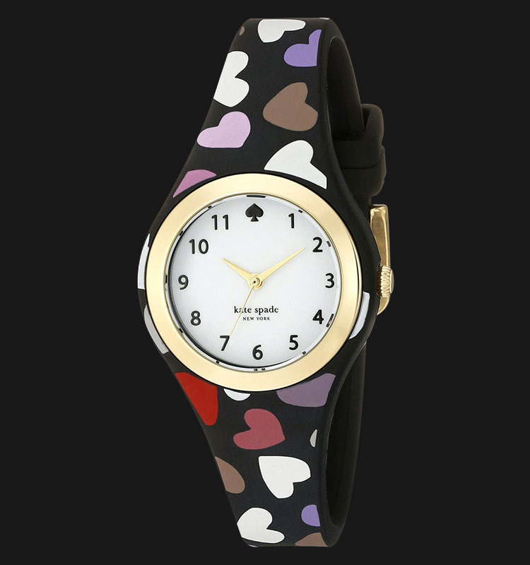 Kate Spade 1YRU0731 Rumsey Analog White Dial Multi Colour Rubber Band Machtwatch