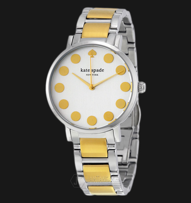 Kate Spade 1YRU0738 Gramercy White Dial Two Tone Stainless Steel Strap Watch Machtwatch