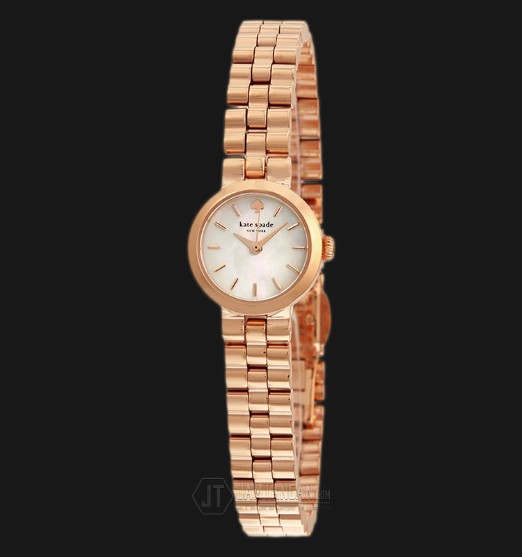Kate Spade 1YRU0799 Gramercy Pearl Dial Rose Gold Stainless Steel Strap Watch Machtwatch