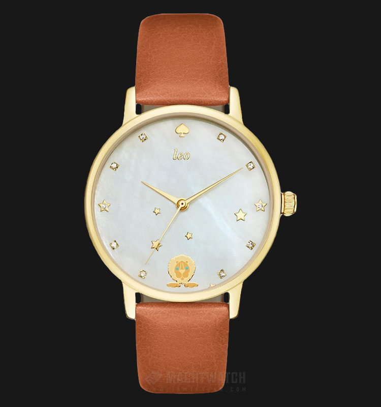 Kate Spade New York KSW1190SET White Dial Brown Leather Strap Machtwatch
