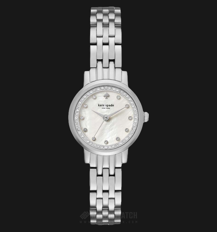 Kate Spade New York KSW1241 White Mother of Pearl Dial Stainless Steel Strap Machtwatch