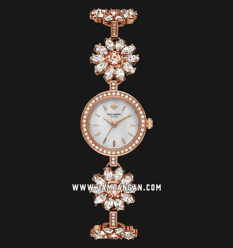 Kate Spade New York Daisy Chain KSW1349 White MOP Dial Rose Gold Stainless Steel Strap Machtwatch