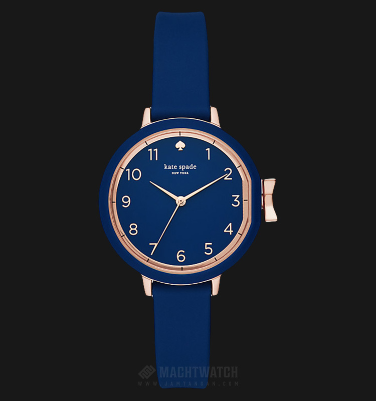 Kate Spade New York Park Row KSW1353 Blue Dial Blue Rubber Strap Machtwatch