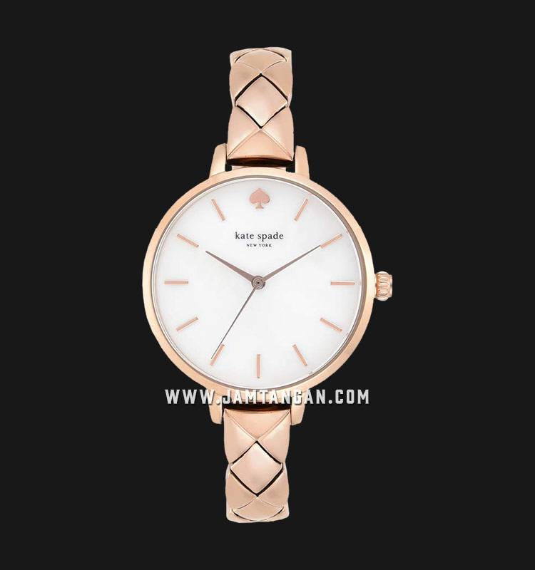 Kate Spade New York Metro KSW1466 Mother of Pearl Dial Rose Gold Stainless Steel Machtwatch