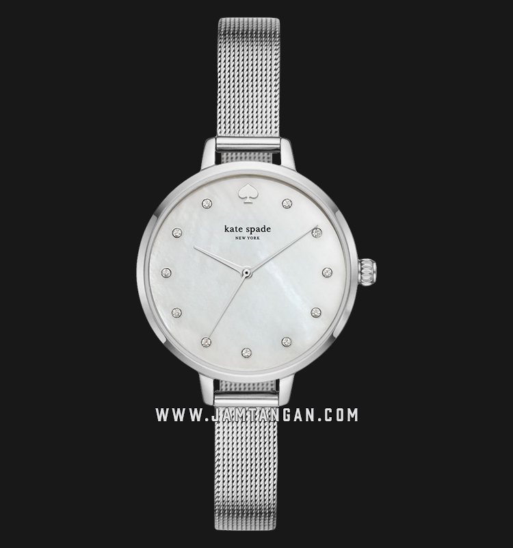 Kate Spade New York KSW1490 White Mother of Pearl Dial Stainless Steel Strap Machtwatch