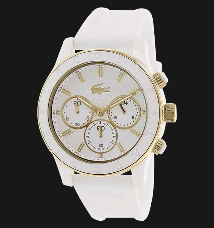 Lacoste 2000853 Chronograph Charlotte White Silicone Machtwatch