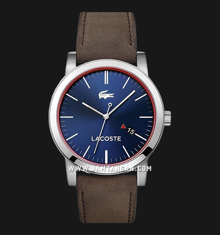 Lacoste Metro 2010848 Men Blue Dial Brown Leather Strap Machtwatch