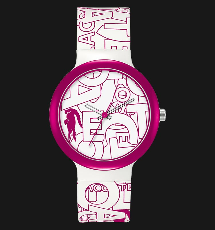 Lacoste 2020065 Unisex Goa White and Pink Silicone Machtwatch