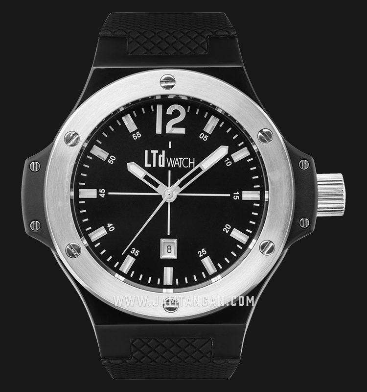 LTD Watch LTD-R1B Black Dial Black Rubber Strap Machtwatch