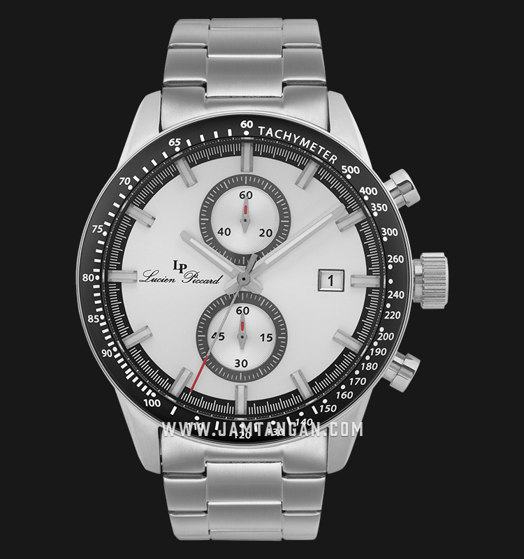 Lucien Piccard Grani LP-28004C-22S Chronograph Silver Dial Stainless Steel Strap Machtwatch