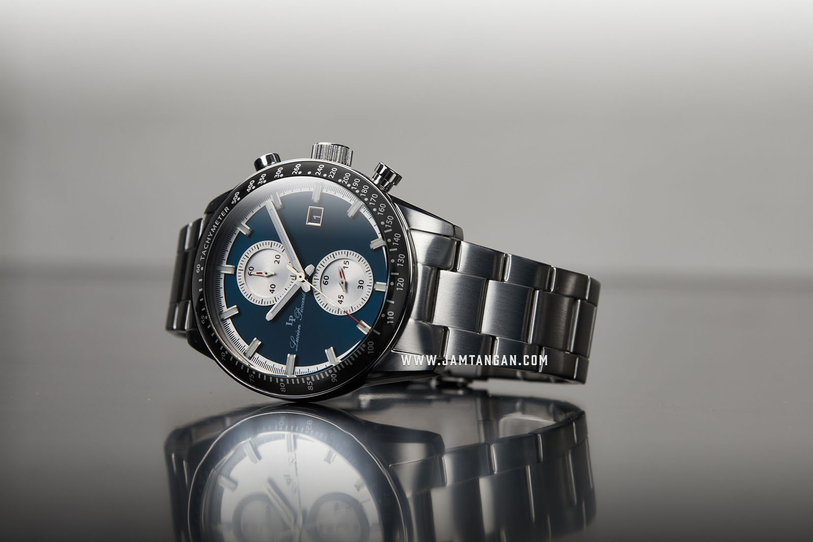 Lucien Piccard Grani LP-28004C-33 Chronograph Blue Dial Stainless Steel Strap Machtwatch