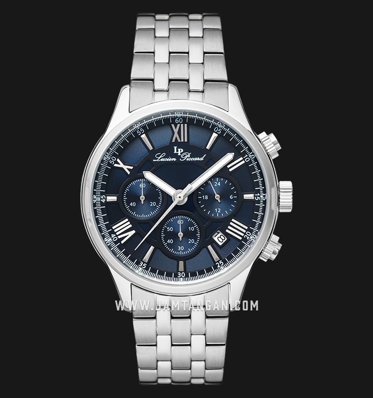 Lucien Piccard Lancaster LP-28013C-33 Chronograph Blue Dial Stainless Steel Strap Machtwatch