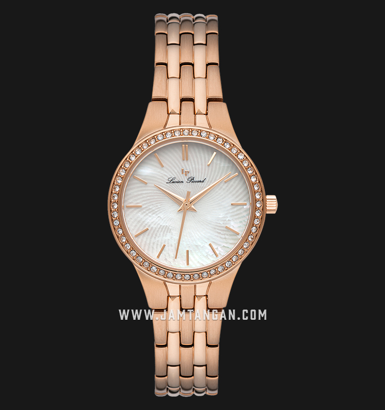 Lucien Piccard Jayne LP-28020-RG-22MOP Mother of Pearl Dial Rose Gold Stainless Steel Strap Machtwatch