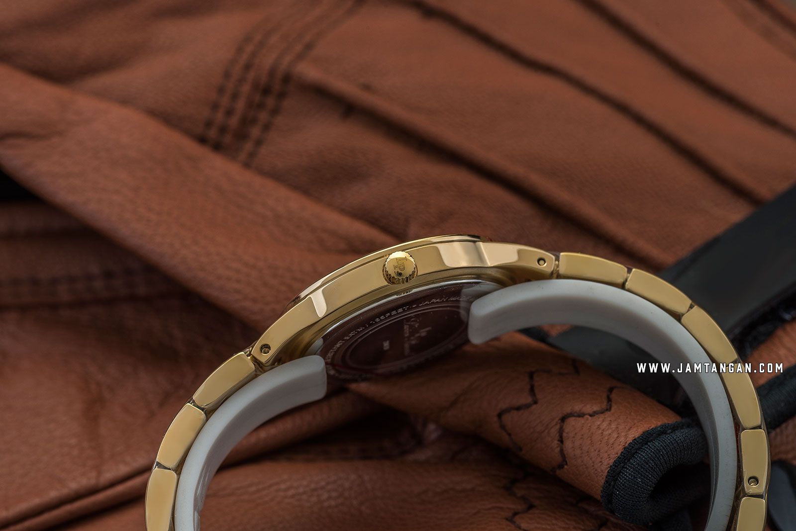 Lucien Piccard Jayne LP-28020-YG-22MOP Mother of Pearl Dial Gold Stainless Steel Strap Machtwatch