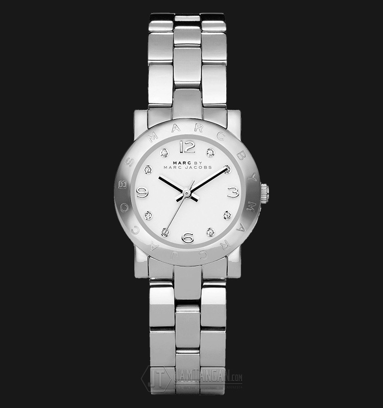 Marc Jacobs MBM3055 Mini Amy White Dial Stainless Steel Ladies Watch Machtwatch