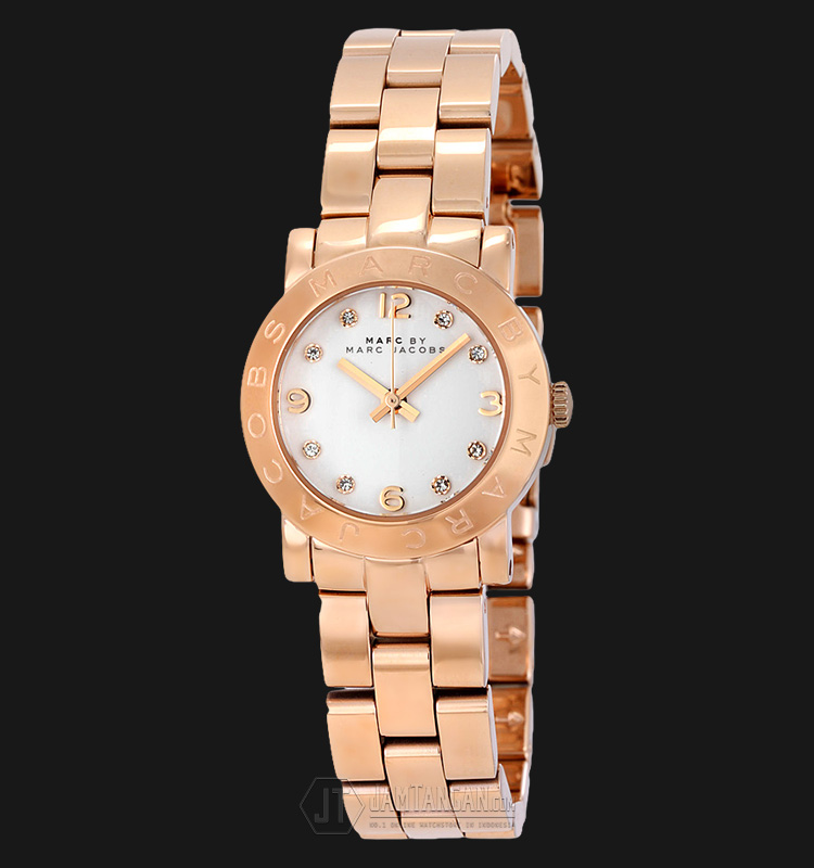 Marc Jacobs MBM3078 Mini Amy White Dial Rosegold Tone Stainless Steel Machtwatch